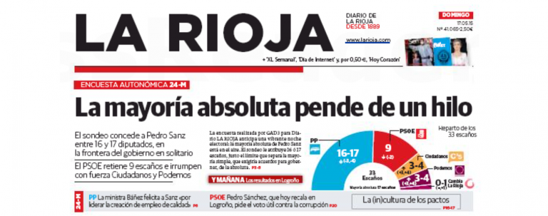 La Rioja: la mayoría absoluta del PP, en el aire.