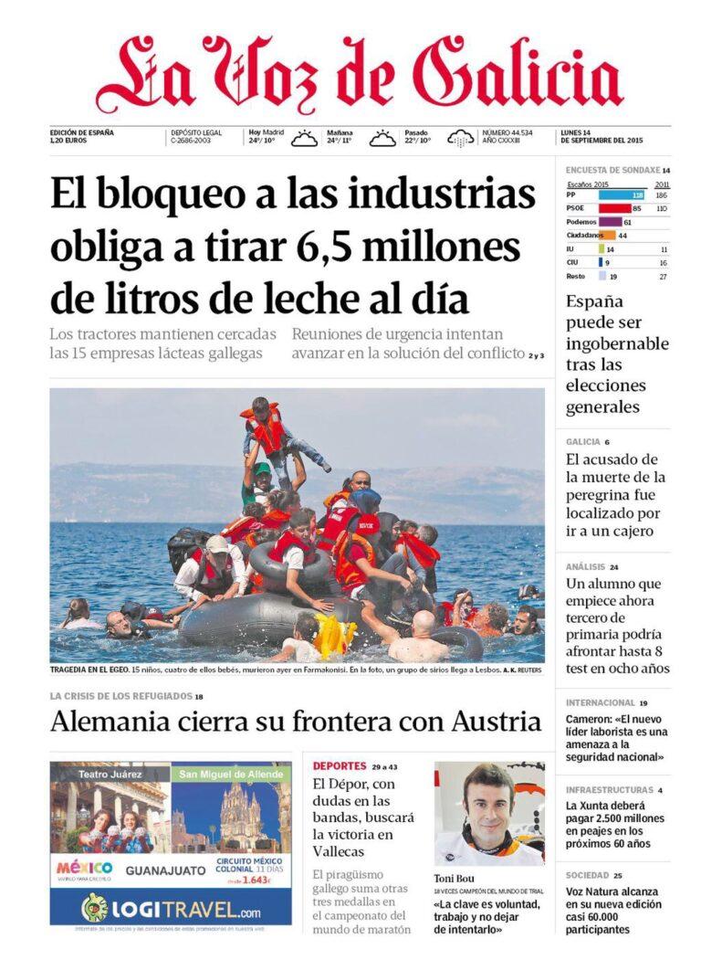 Sondaxe para Generales: La suma PP+Ciudadanos supera a PSOE+Podemos.