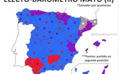 mapa españa ganador y segundo