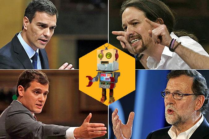 Resultados del debate a cuatro según @polibot