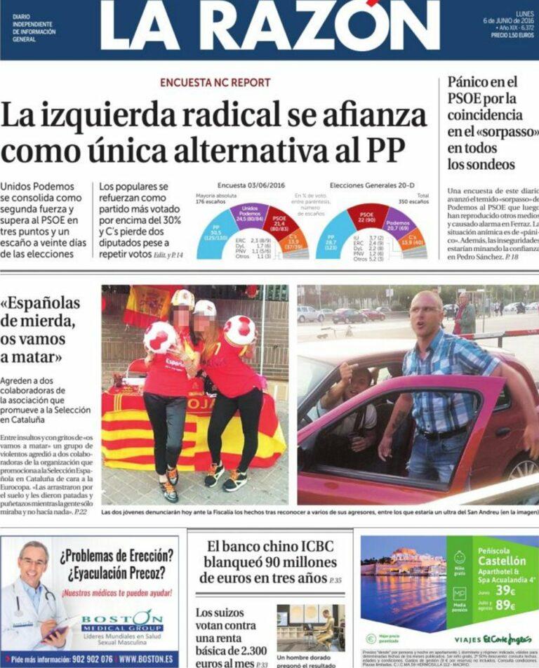 Nc Report: Unidos Podemos se afianza como única alternativa al PP.