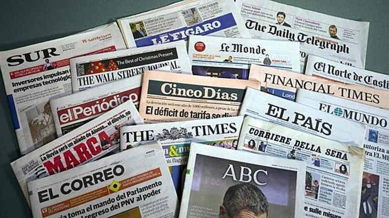 Así abren las principales cabeceras de la prensa este histórico 4M