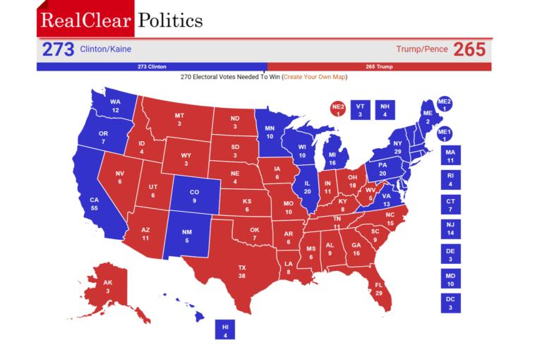 USA, ¿quién sería Presidente si Clinton y Trump empatan a 269 votos electorales?