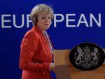 Britain's PM Theresa May holds a news conference after the EU summit in Brussels