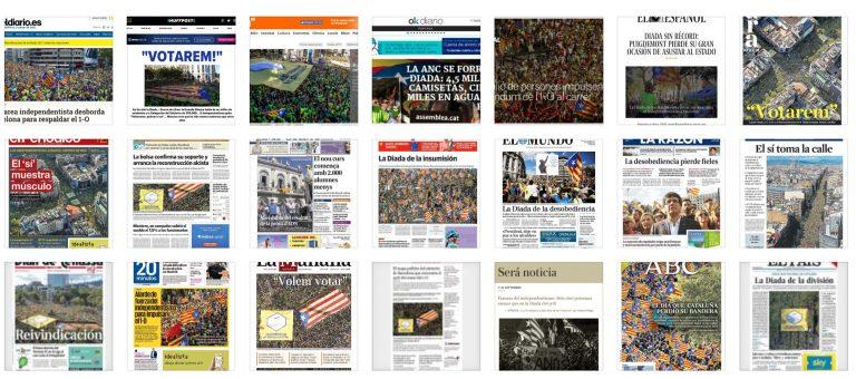 Especial Portadas de Prensa post-Diada.