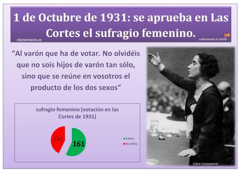 Recordando: 86 años del sufragio femenino en España.