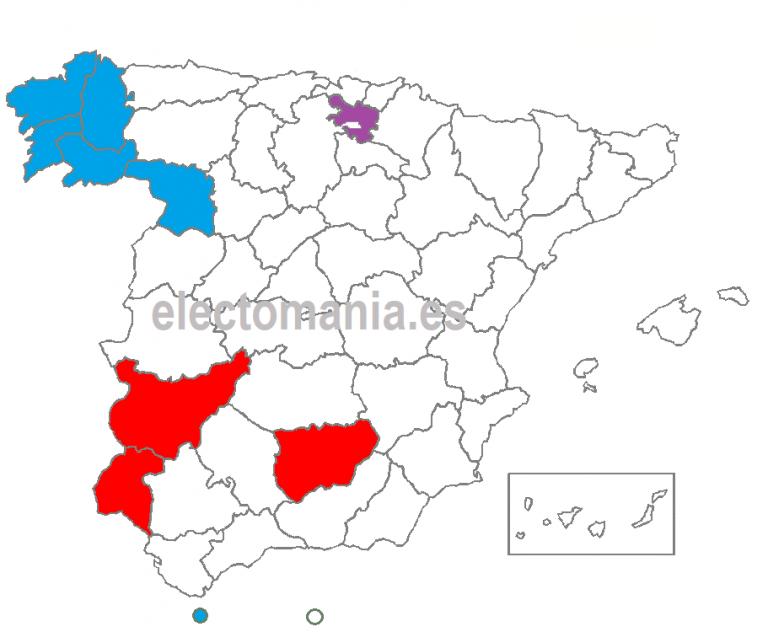 Nueve provincias y media