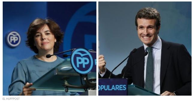 YouGov (Huffpost): los españoles prefieren a Santamaría antes que a Casado