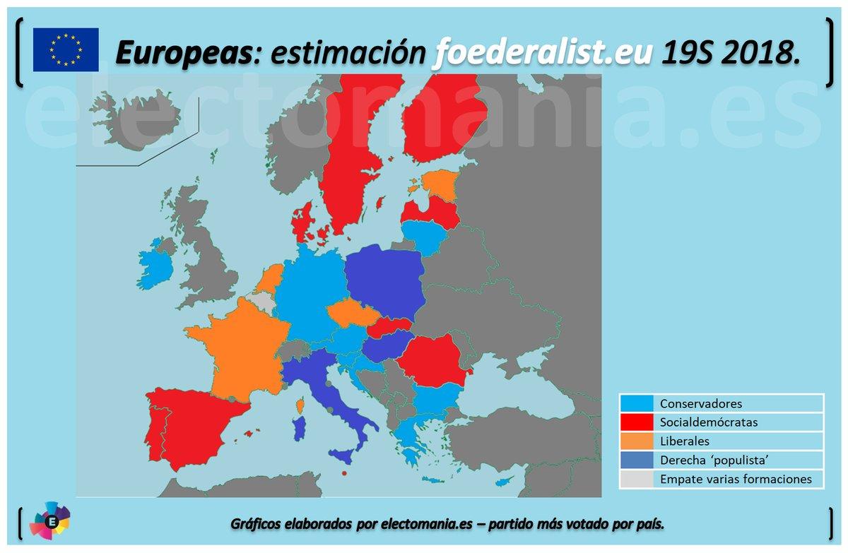 Encuestas para elecciones europeas de 2019 Map