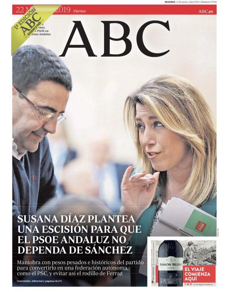 Según ABC, Susana Díaz se plantea una escisión del PSOE andaluz al estilo del PSC