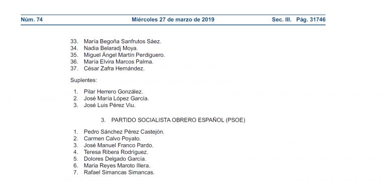 Listas completas para las elecciones del 28-A: llegó la hora de decidir