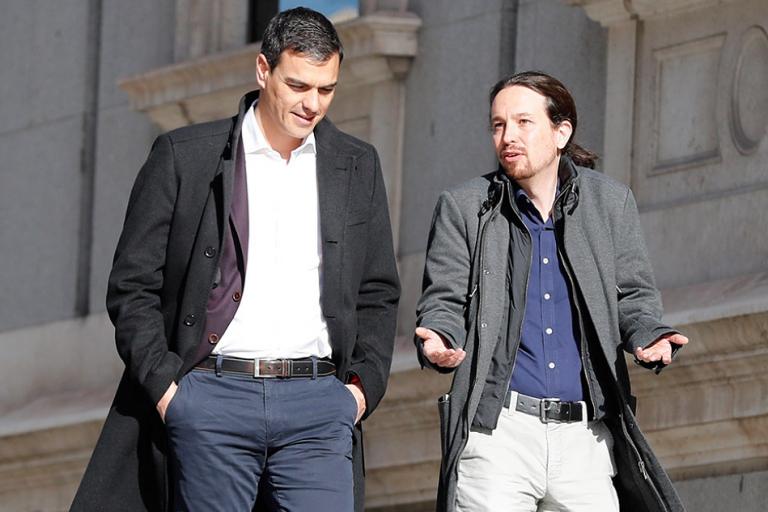 Los puntos del acuerdo PSOE-UP: subida del SMI, derogación de la reforma laboral, limitación de los ETTs, reforma fiscal y revalorización de las pensiones