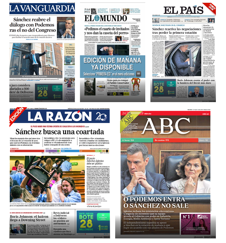 Titulares de la prensa (24J)