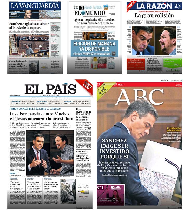 Portadas de Prensa (martes 23 de julio)