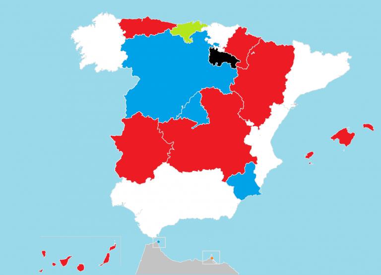 Así quedan los gobiernos autonómicos: La Rioja, única CCAA enquistada.