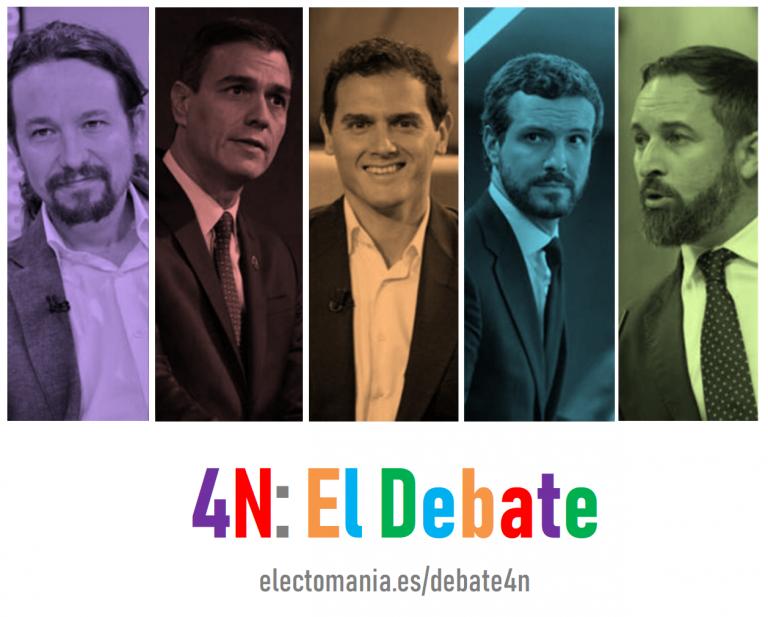 [Seguimiento] 4N: El Debate. ElectoPanel en tiempo real sobre el ganador