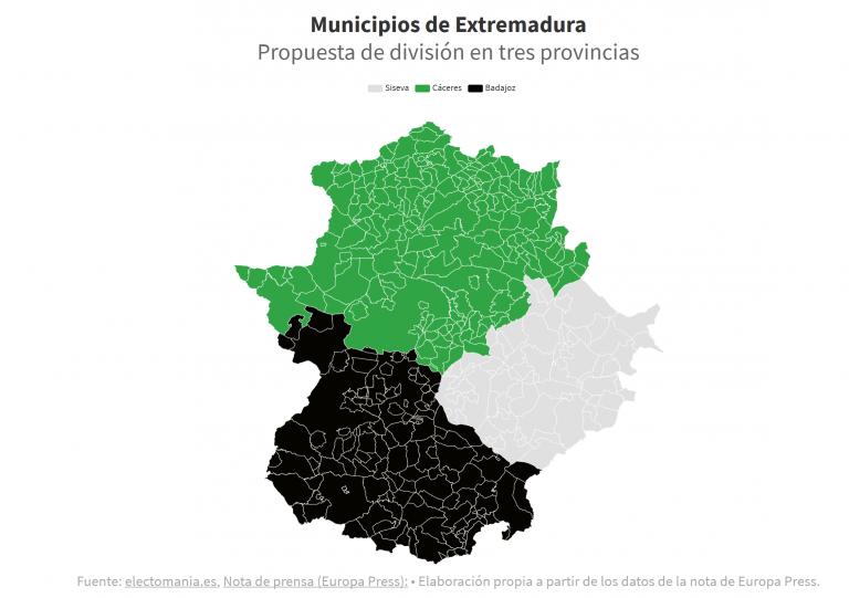 Siseva: la tercera provincia extremeña que reclama su independencia de Cáceres/Badajoz