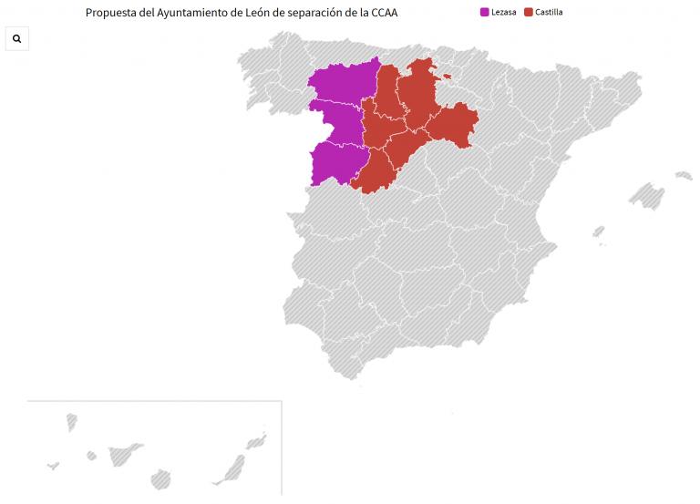 Lezasa, ¿llegarán León, Zamora y Salamanca a conformar una nueva CCAA separada de Castilla?