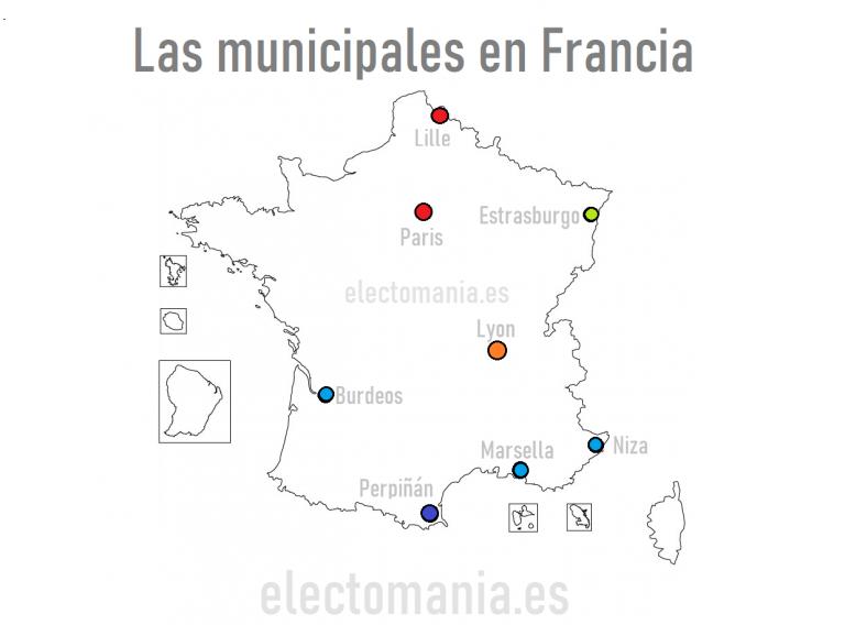 Francia: así están los sondeos para las municipales en las principales ciudades