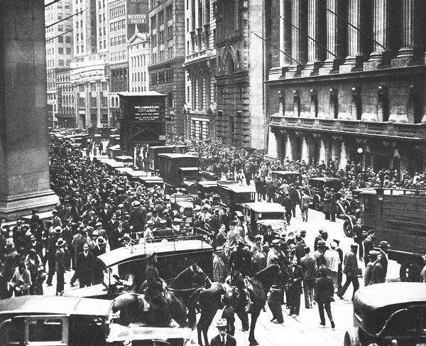 El crac de 1929 y sus consecuencias posteriores