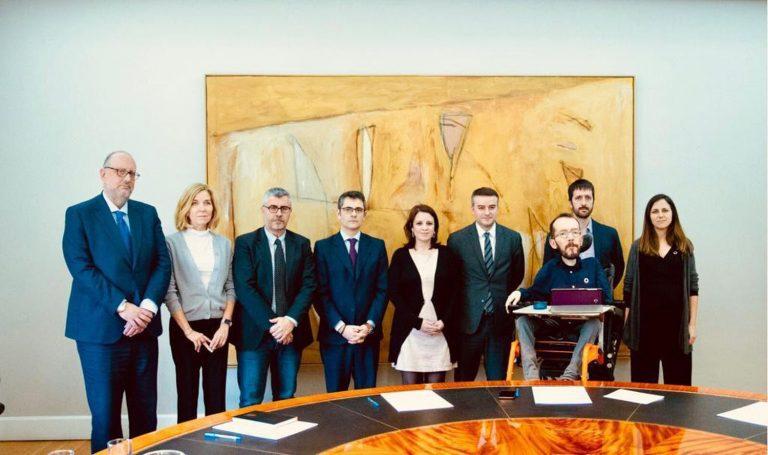 Reunida de urgencia la comisión de seguimiento del pacto PSOE-UP