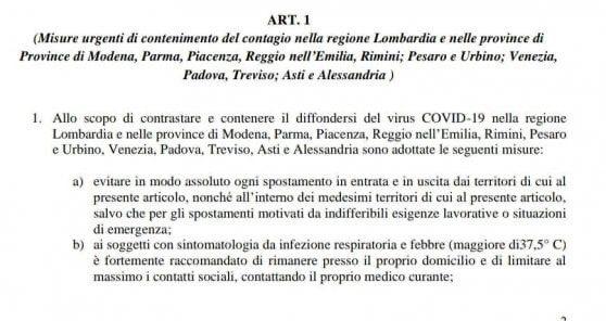 El Gobierno italiano pone en cuarentena obligatoria a 16 millones de habitantes