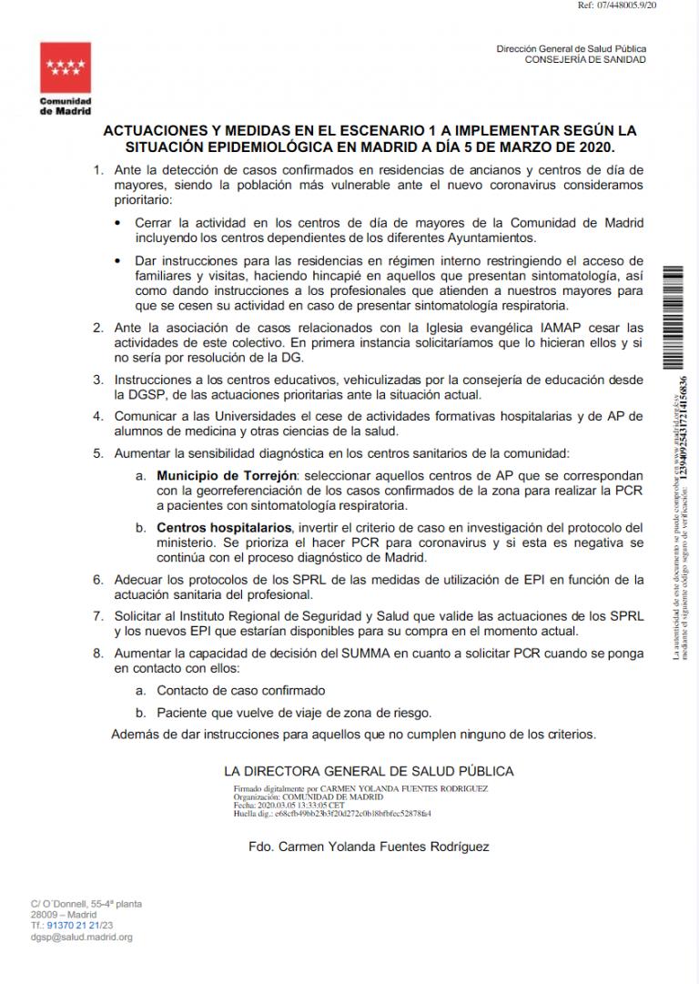 Coronavirus: la Comunidad de Madrid anuncia medidas especiales tras la detección de nuevos casos