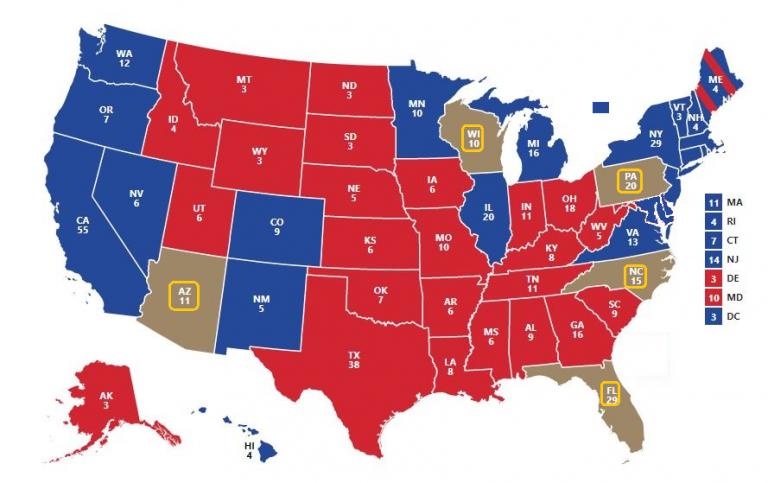 Presidenciales USA: Si hubiera empate Trump-Biden, ¿qué estado decidiría la presidencia?