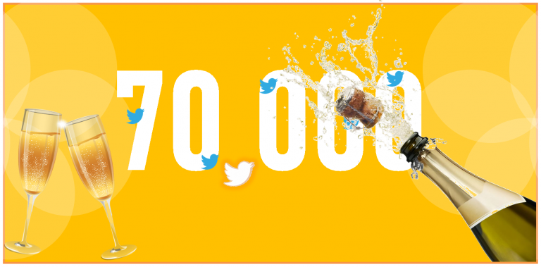 ¡Ya somos 70.000 en twitter!