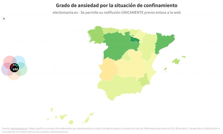 ElectoPanel (29A): los españoles no manifiestan una elevada ansiedad por el confinamiento