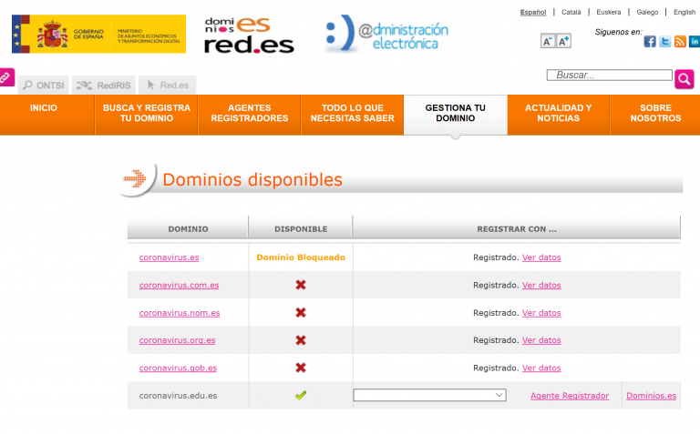 La historia del revendedor de dominios que registró coronavirus.es