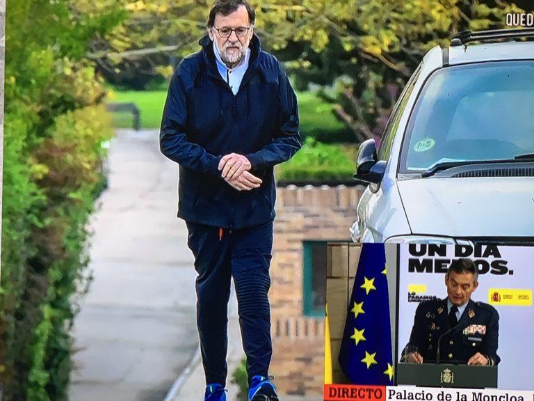 La Sexta publica imágenes del expresidente Rajoy saltándose el confinamiento