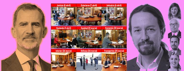Las reuniones del rey con los ministros: 9 del PSOE, 0 de Unidas Podemos