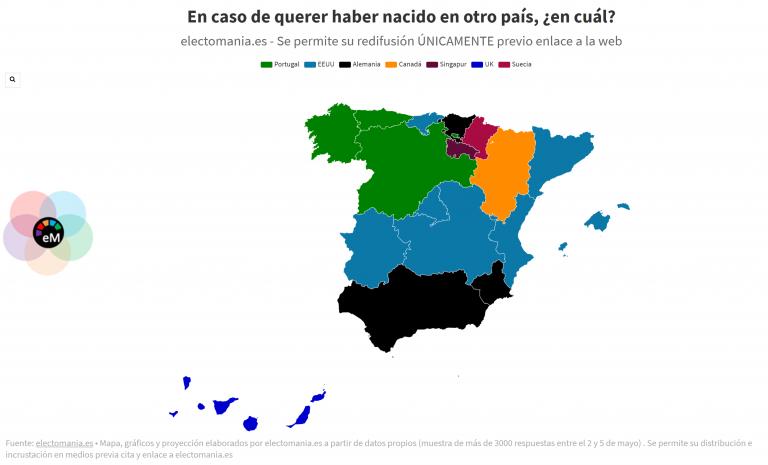 EP (9My): el 80% de los españoles no desearían haber nacido en otro país