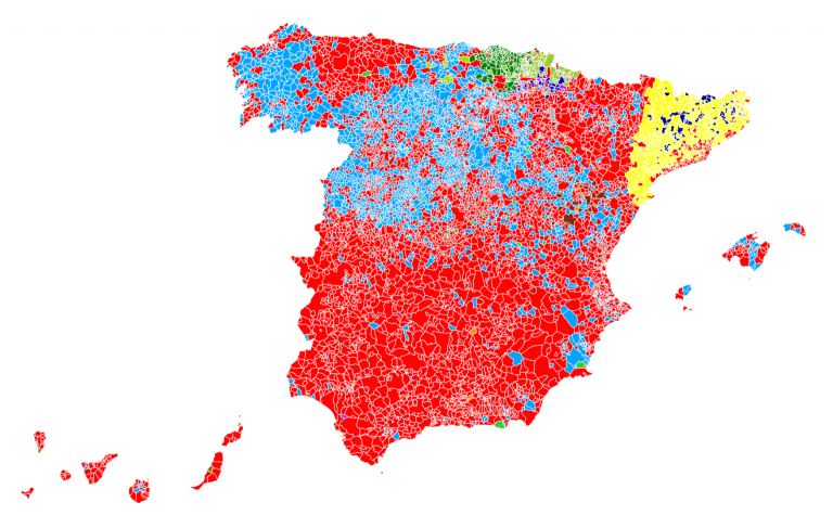 El CIS tiñe el mapa español de rojo: descubre quién ganaría en tu municipio si se cumpliera su estimación