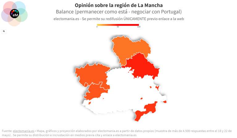 ElectoPanel (25My): el 51% de Castilla-La Mancha dejaría a la región manchega tal como está, un 38% estaría abierto a un cambio