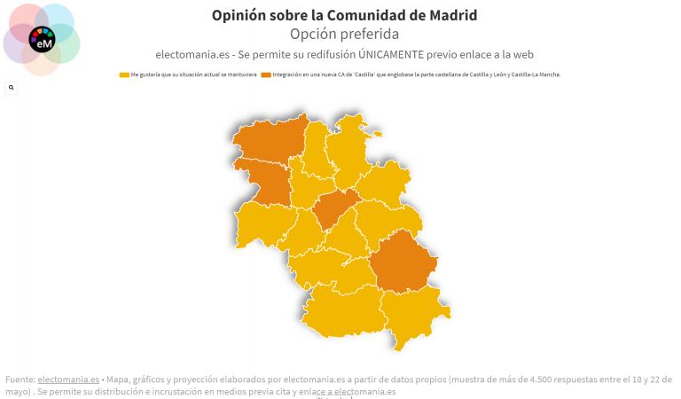 EP (27My I): parte de Castilla y León y Castilla-La Mancha a favor de unirse a Madrid en una 'supercomunidad' de Castilla
