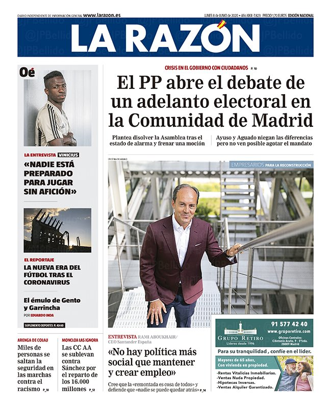 Comunidad de Madrid: el PP se plantea un adelanto electoral, según La Razón