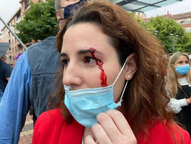 La campaña vasca se complica. Incidentes en Sestao
