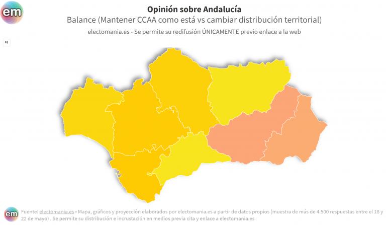 ElectoPanel (1J – I): Granada y Almería, las provincias andaluzas que más apuestan por un cambio territorial