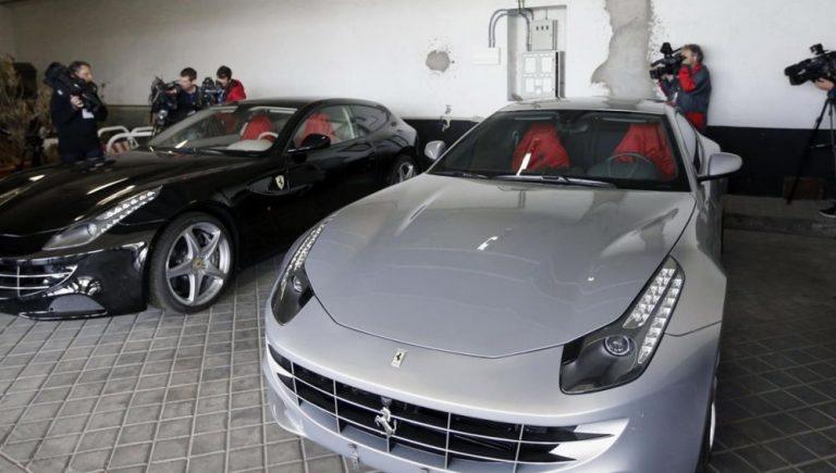 Okdiario documenta la subasta de dos Ferrari que el Jeque de Dubai habría regalado a Juan Carlos y Felipe en 2011