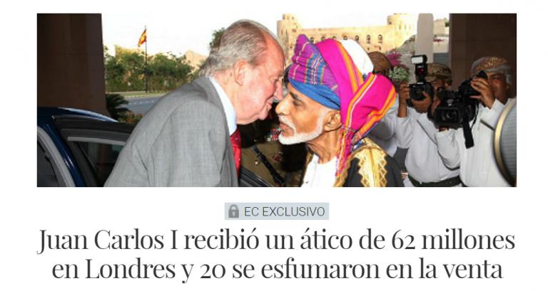 El Confidencial: Juan Carlos recibió un ático en Londres de más de 60 millones de euros, tras abdicar