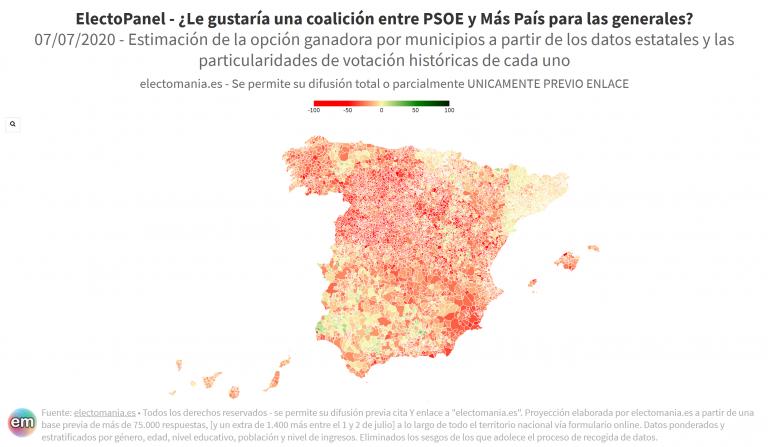 EP (7Jul): los ciudadanos no quieren coalición PSOE-Más País (pero Unidas Podemos la apoya)