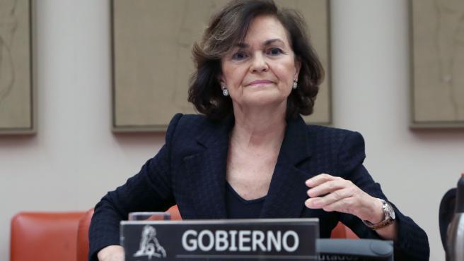 PSOE, PP y Vox rechazan la comparecencia de Carmen Calvo para explicar la negociación de la salida del emérito