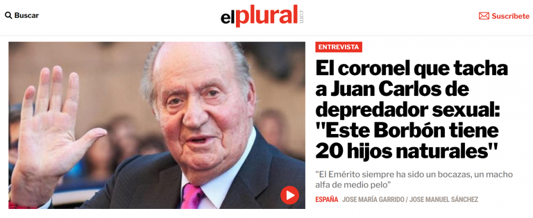 Amadeo Martínez, ex-coronel, afirma que la Reina Sofía conspiró con el Gobierno de Aznar para forzar la abdicación de Juan Carlos