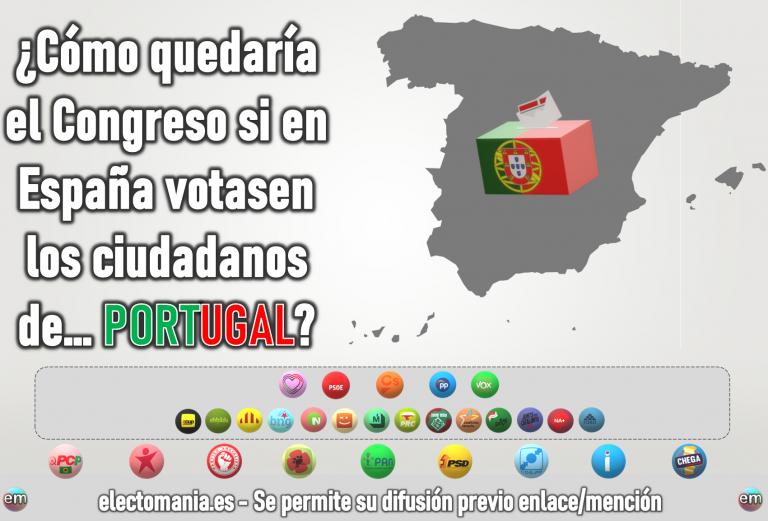¿Cómo sería el Congreso si en España votaran los portugueses? El PSOE dominando 'a lo Tezanos'