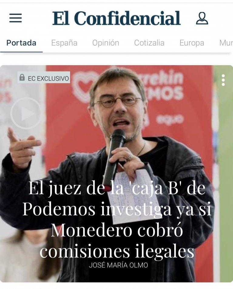 Podemos: el juez investiga si Monedero cobró comisiones ilegales y la cooperativa de Mayoral
