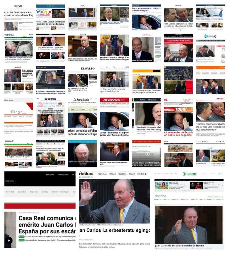 [ESPECIAL EXILIO REAL] Así recoge la prensa el 'traslado voluntario' de Juan Carlos de Borbón