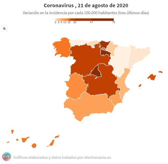 Covid-19. La incidencia sigue subiendo y está ya en 150 casos por 100.000 habitantes