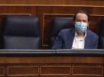 Pablo Iglesias banco azul